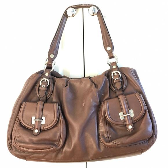 Moschino large leather handbag